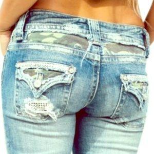 Miss Me Jean Shorts Distressed  Camo Rhinestones